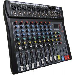 MIXER AUDIO STUDIO 8 CH. BLUETOOTH KARAOKE DJ STUDIO CON DISPLAY + USB