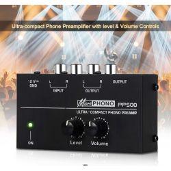 PREAMPLIFICATORE AMPLIFICATORE PHONO GIRADISCHI fono CON VOLUMI