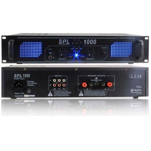 AMPLIFICATORE FINALE POTENZA PA STEREO SPL 1000W EQUALIZZATO X DJ - 1