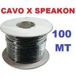 MATASSA 100 MT. diametro esterno 6,5 mm CAVO AUDIO PER SPEAKON PROLUNGHE art. 801818 - 1