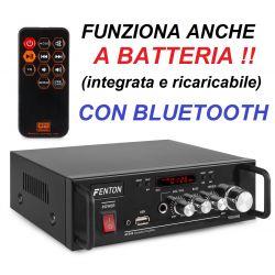 AMPLIFICATORE KARAOKE CON BATTERIA RICARICABILE BLUETOOTH STEREO LETTORE USB